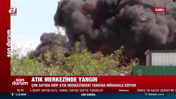 SON DAKİKA: Çanakkale'de atık merkezinde yangın! Çok sayıda ekip müdahale ediyor