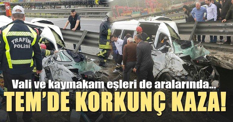 Son dakika: TEM'de korkunç kaza kaza! Ölü ve yaralılar var