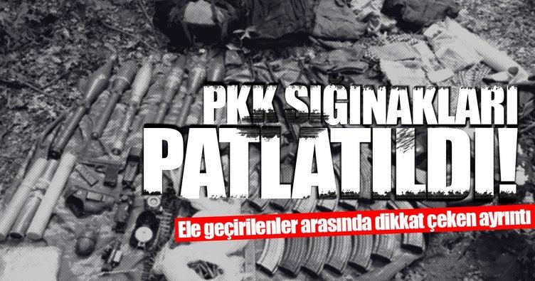 PKK'ya ait 4 sığınak içerisinde silah ve mühimmat ele geçirildi