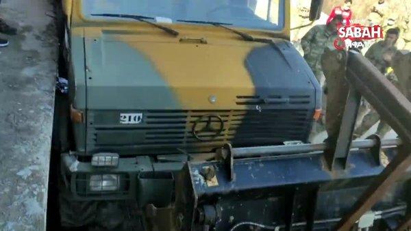 Freni boşalan gıda yüklü zırhlı araç park halindeki otomobile böyle çarptı | Video