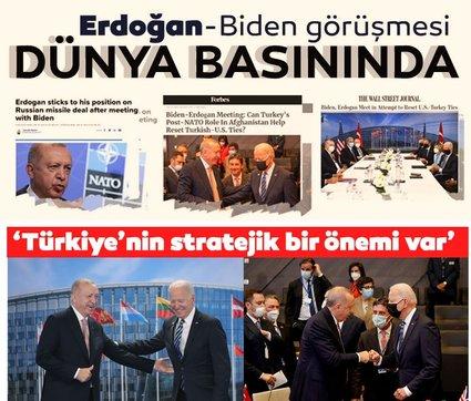 Başkan Erdoğan-Joe Biden görüşmesi dünya basınında! 'Erdoğan geri adım atmadı'