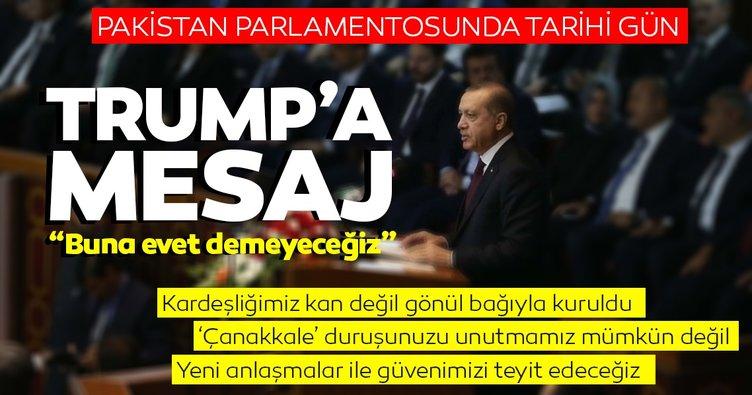 SON DAKİKA! Başkan Erdoğan Pakistan meclisine hitap etti! İşte tarihi konuşmasından son dakika ayrıntıları