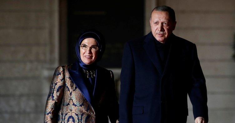 Başkan Erdoğan, Picasso Bleu et Rose Müzesi'ndeki yemeğe katıldı
