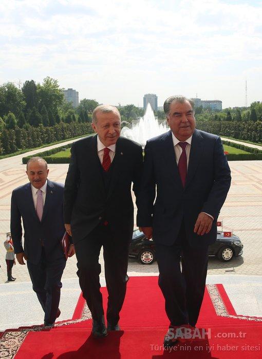 Başkan Erdoğan'dan Tacikistan'da kritik görüşmeler