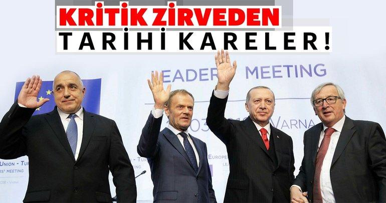 Cumhurbaşkanı Erdoğan'ın da katıldığı Varna'daki kritik AB zirvesinden tarihi anlar