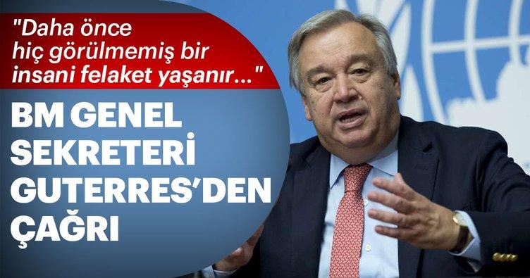 BM Genel Sekreteri Guterres'den çağrı