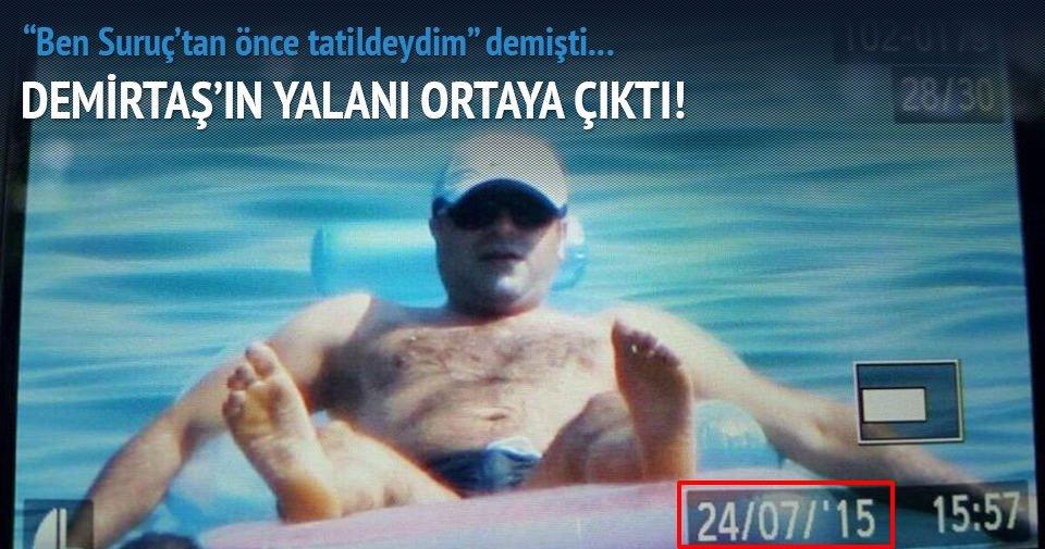 Demirtaş'ın tatil yalanı ortaya çıktı