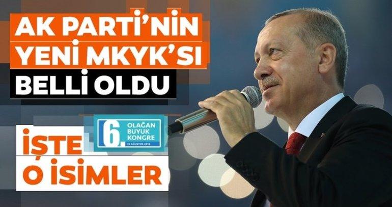 Son dakika haberi: AK Parti'nin yeni MKYK listesi belli oldu!