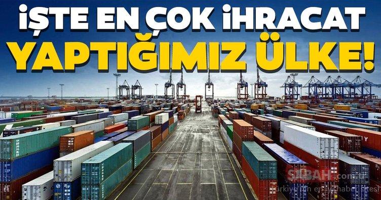 Türkiye en çok hangi ülkelere ihracat yaptı?