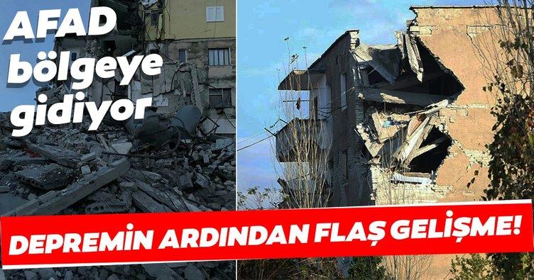 Son dakika: Arnavutluk'taki depremin ardından flaş gelişme! AFAD kurtarma ekibi destek gönderiyor