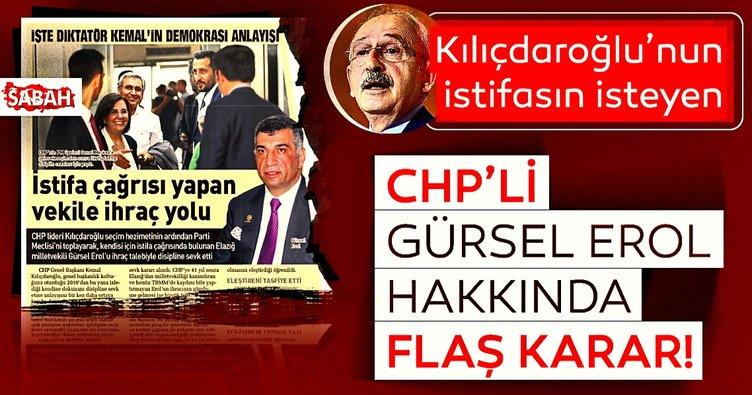 Son dakika: CHP Elazığ Milletvekili Gürsel Erol'a kınama cezası verildi