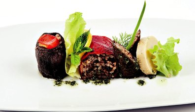 Biber Patlıcan Dolması, Sarma ve Fava Kombinasyonu