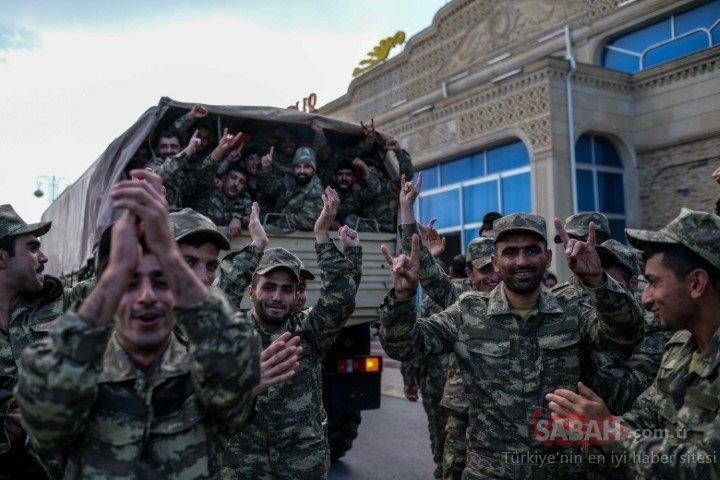 Azerbaycan-Ermenistan cephe hattından sıcak fotoğraflar