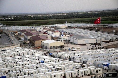 Kilis'teki mülteci kampı ilk kez görüntüledi
