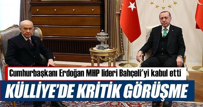 Cumhurbaşkanı Erdoğan MHP lideri Bahçeli'yi kabul etti