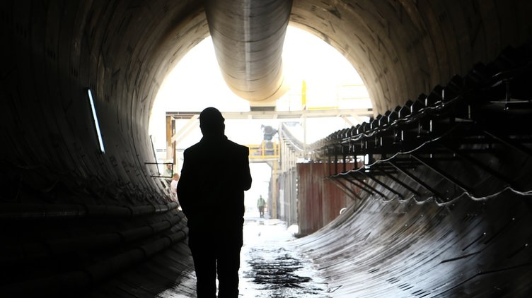 Türkiye'nin en uzun demiryolu çift tüp geçit projesi