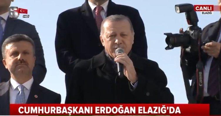 Cumhurbaşkanı Erdoğan Elazığ'da halka hitap etti
