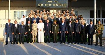 Cumhurbaşkanı Erdoğan'dan Katar TSK Kara Unsur Komutanlığı'na ziyaret