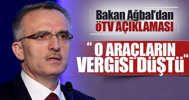 Maliye Bakanı Ağbal'dan ÖTV açıklaması