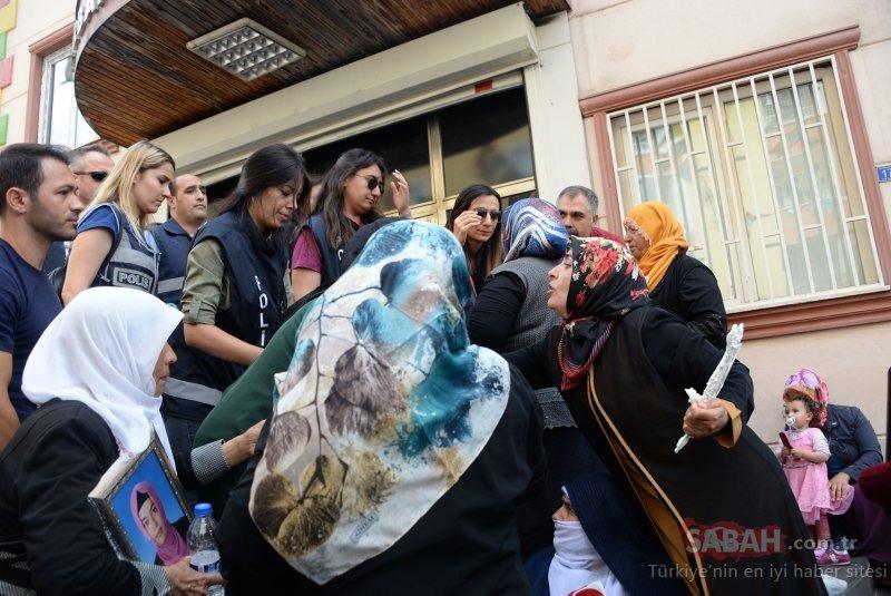 Diyarbakır'daki eylemde hareketli anlar! Annelerden HDP'lilere sert tepki ile ilgili görsel sonucu