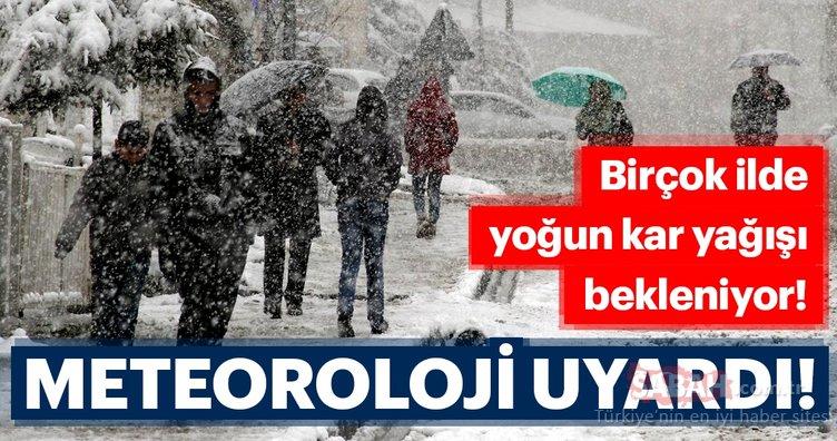 Meteoroloji'den son dakika hava durumu ve kar yağışı uyarısı geldi! Kar ne zaman yağacak?
