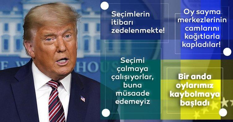 Son dakika: ABD Başkanı Trump'tan flaş açıklamalar! Yasal oylara bakılırsa ben kazandım