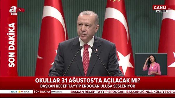 Başkan Erdoğan'dan Doğu Akdeniz açıklaması: