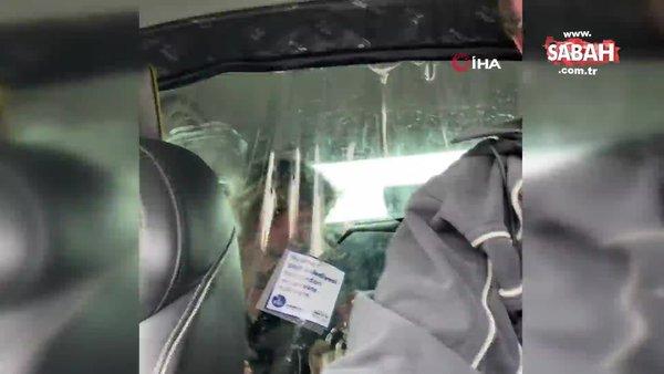 Aksaray'da kadın müşterinin, taksiciye yaşattığı zor anlar kamerada | Video