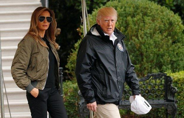 Melania Trump, sel bölgesini 12 cm'lik topuklularıyla ziyaret etti