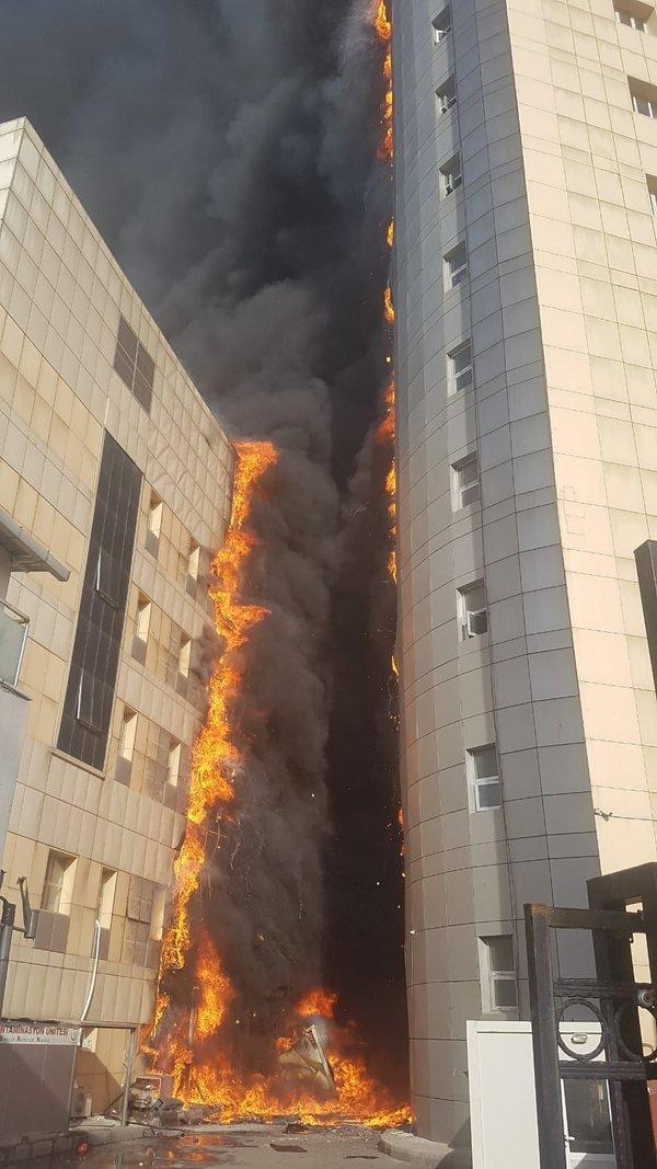 Taksim Eğitim ve Araştırma Hastanesi'nde yangın