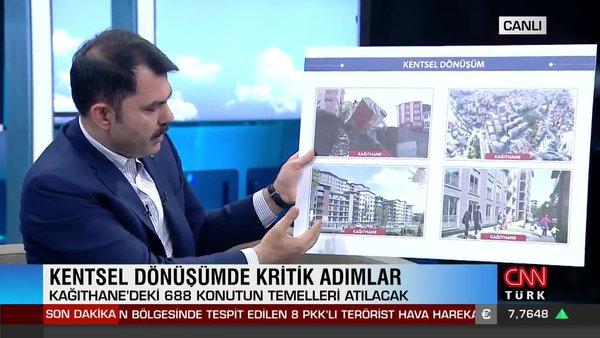 Son Dakika: Bakan Kurum'dan canlı yayında kentsel dönüşüm müjdesi | Video