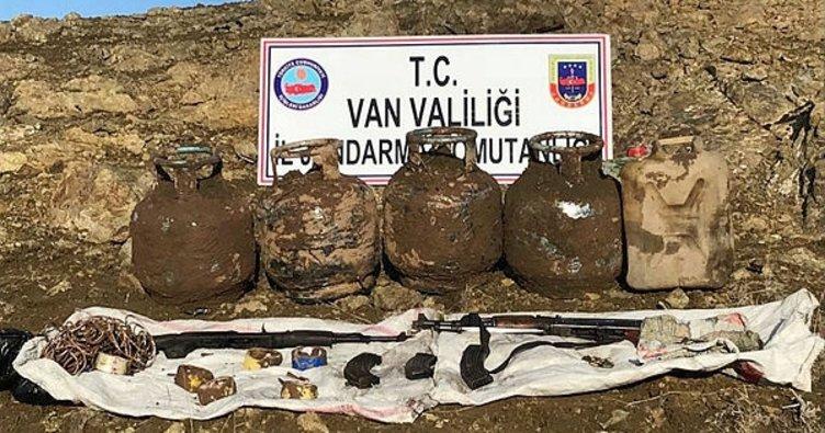 Teröristlerin kış üslenme alanlarına operasyon