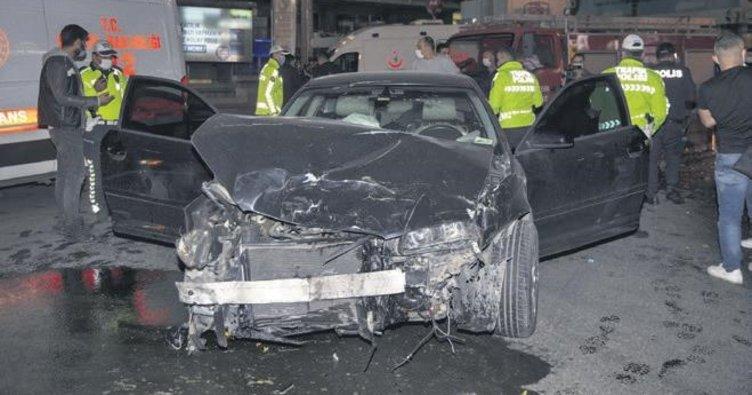 Zincirleme 'ışık ihlali' kazası: 3 yaralı