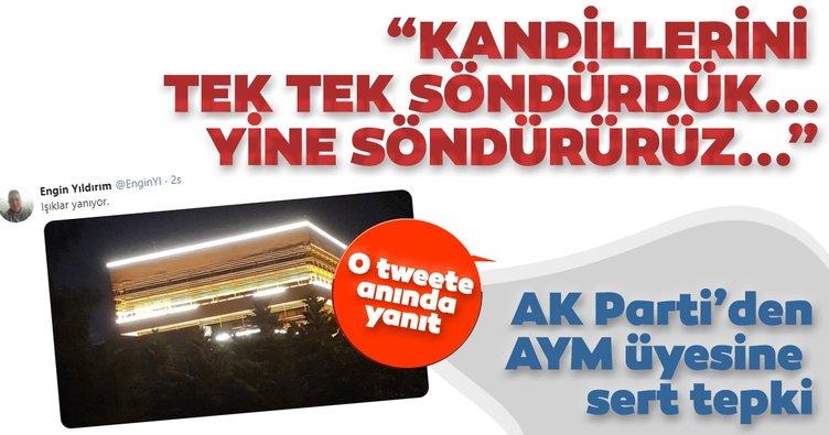 AK Parti'den AYM üyesi Engin Yıldırım'ın paylaşımına sert tepki