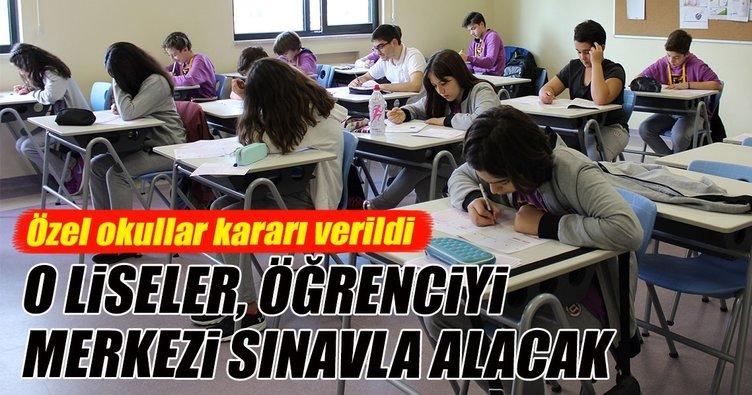 Özel okullar, öğrenciyi MEB sınavıyla alacak