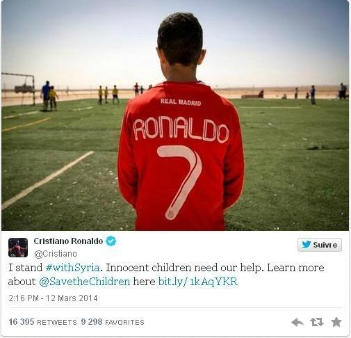Her zaman Suriyeli çocukların yanında: Cristiano Ronaldo