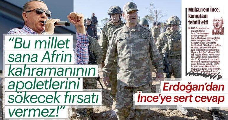 Cumhurbaşkanı Erdoğan'dan İnce'ye: Bu millet seni sandığa gömer