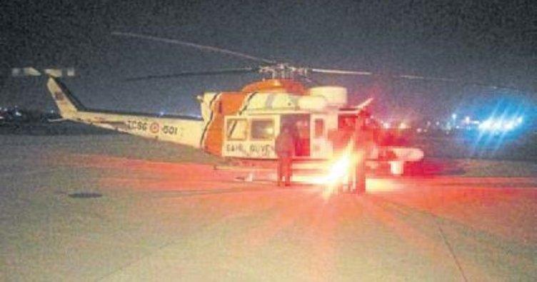Sürüklenen yattan helikopterle kurtarıldı