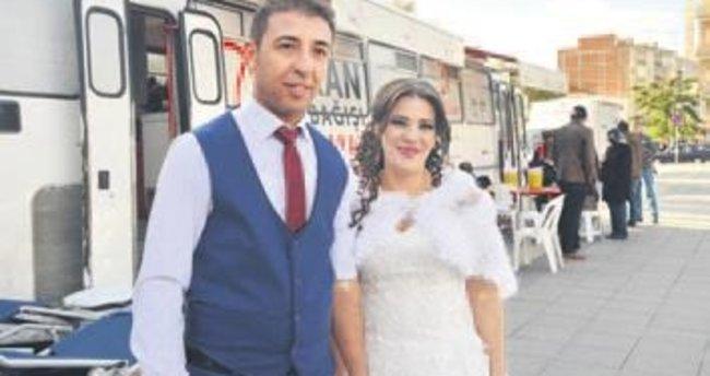 Yeni evli çiftten anlamlı davranış