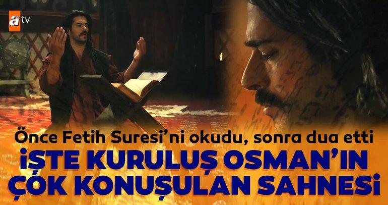 Osman Bey önce Fetih Suresi'ni okudu, sonra dua etti