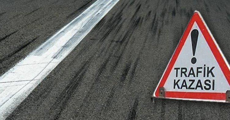 Samsun'da kontrolü kaybeden sürücü refüje çıktı