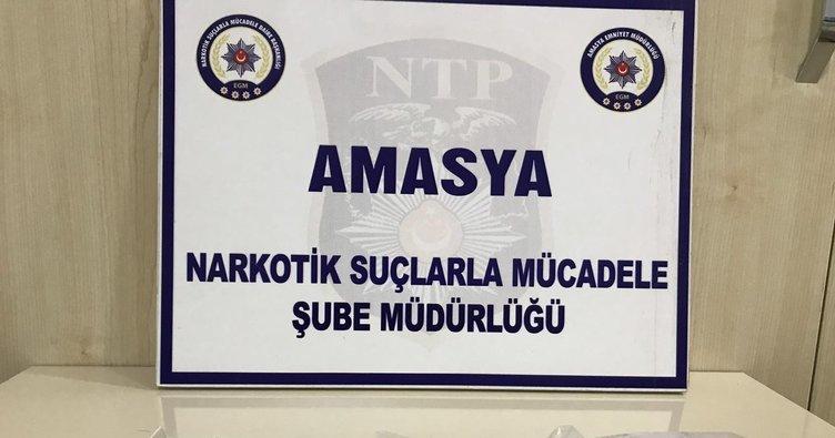 Amasya'da uyuşturucu operasyonunda 2 tutuklama