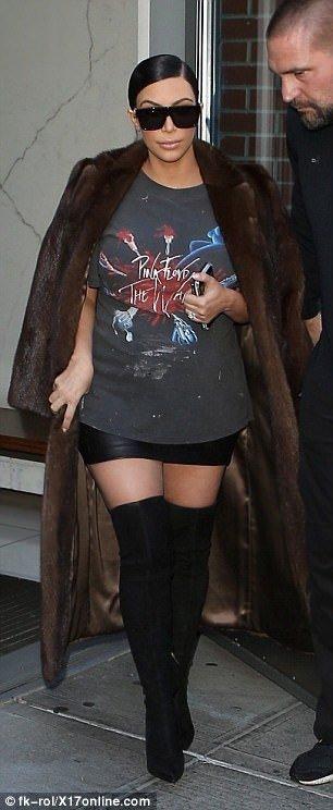 Kim Kardashian kürk sezonunu açtı!