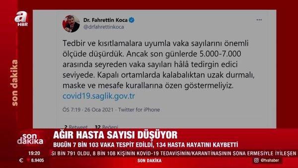 SON DAKİKA HABERİ | Sağlık Bakanlığı duyurdu: İşte 26 Ocak Türkiye koronavirüs vaka sayısı verileri!