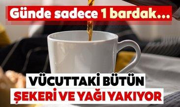 Günde 1 bardak kahve içerseniz vücuttaki bütün yağı ve şekeri yakıyor!