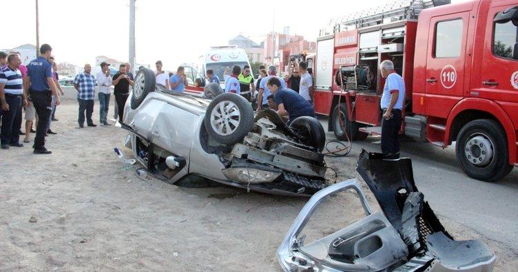 Karaman'da feci kaza