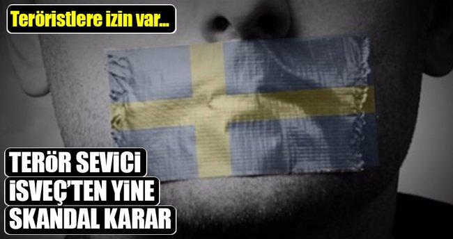 İsveç'ten yine skandal karar