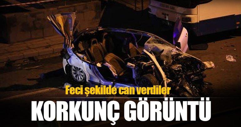 Ankara'da zincirleme trafik kazası: 2 ölü, 2 yaralı
