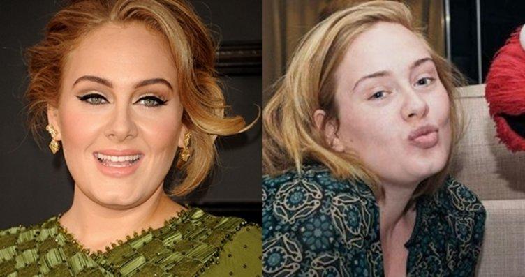 Makyaj güzeli ünlülere bir de böyle bakın