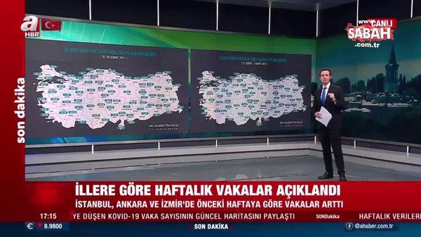 Sağlık Bakanı Fahrettin Koca, 27 Şubat-5 Mart il il vaka haritasını paylaştı   Video